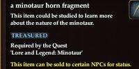A minotaur horn fragment