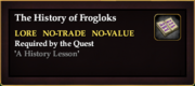 The History of Frogloks (Quest Item)
