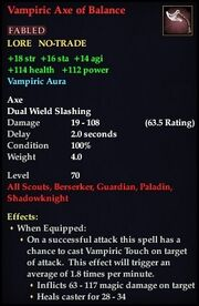 Vampiric Axe of Balance