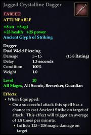 Jagged Crystalline Dagger