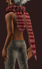 Red Woolen Scarf (Equipped)
