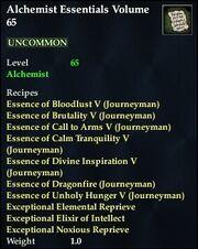 Alchemist Essentials Volume 65