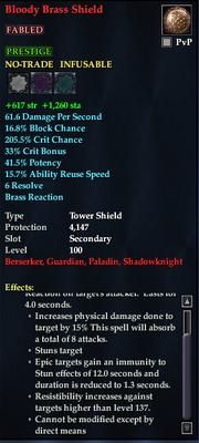 Bloody Brass Shield (Tower)