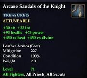 Arcane Sandals of the Knight