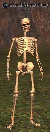 A small skeletal brat