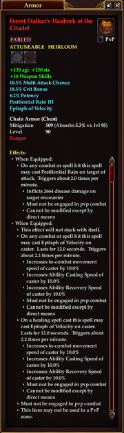 Forest Stalker's Hauberk of the Citadel