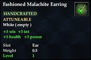 Fashioned Malachite Earring