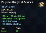 Pilgrim's Bangle of Acumen
