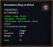 Bloodstone Ring of Blood