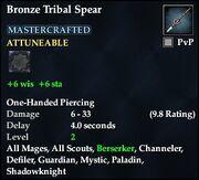 Bronze Tribal Spear