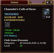 Channeler's Cuffs of Focus