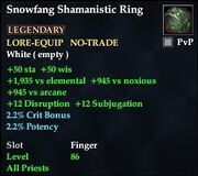Snowfang Shamanistic Ring