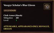 Vesspyr Scholar's Blue Gloves