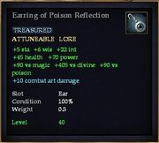 Earring of Poison Reflection