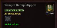 Tranquil Burlap Slippers