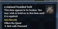 A stained braided belt