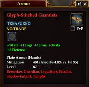 Glyph-Stitched Gauntlets
