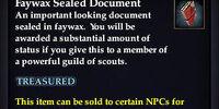 Faywax Sealed Document