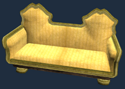 Gold eucalyptus couch (Visible)