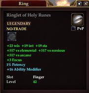 Ringlet of Holy Runes