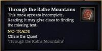 Through the Rathe Mountains (Quest Starter)