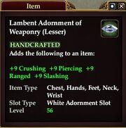Lambent Adornment of Weaponry (Lesser)