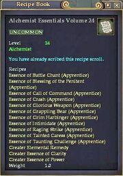 Alchemist Essentials Volume 24