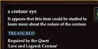 A centaur eye