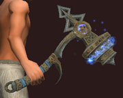 Azure Hammer of the Dracurians (Equipped)