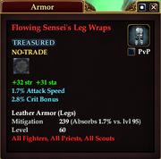 Flowing Sensei's Leg Wraps