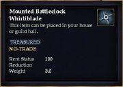Mounted Battleclock Whirliblade
