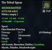 Tin Tribal Spear