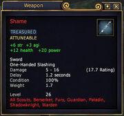 Shame (item)