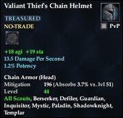 Valiant Thief's Chain Helmet