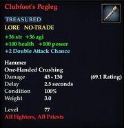 Clubfoot's Pegleg