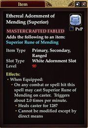 Ethereal Adornment of Mending (Superior)