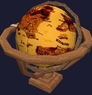 An ornate globe of Norrath (Visible)