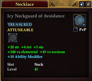 Icy Neckguard of Avoidance