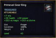 Primeval Gear Ring