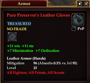 Pure Preserver's Leather Gloves