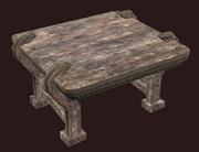 A pristine small alder militia table (Visible)
