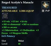 Forged Acolyte's Manacle