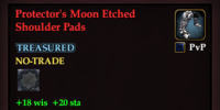 Protector's Moon Etched Shoulder Pads