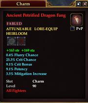 Ancient Petrified Dragon Fang