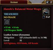 Hanshi's Balanced Wrist Wraps