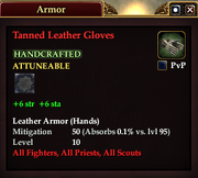 Tanned Leather Gloves