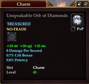 Unspeakable Orb of Diamonds