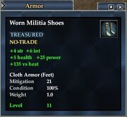 Worn Militia Shoes