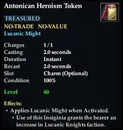 Antonican Heroism Token