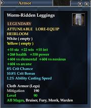 Worm-Ridden Leggings